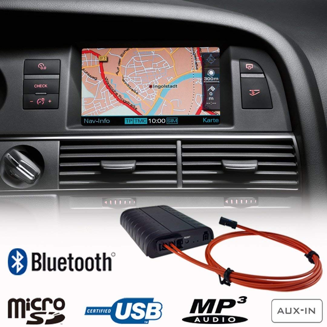 Bluetooth + USB + SD + AUX IN interface / adapter voor Audi met MMI 2G High / Basic  (MOST)