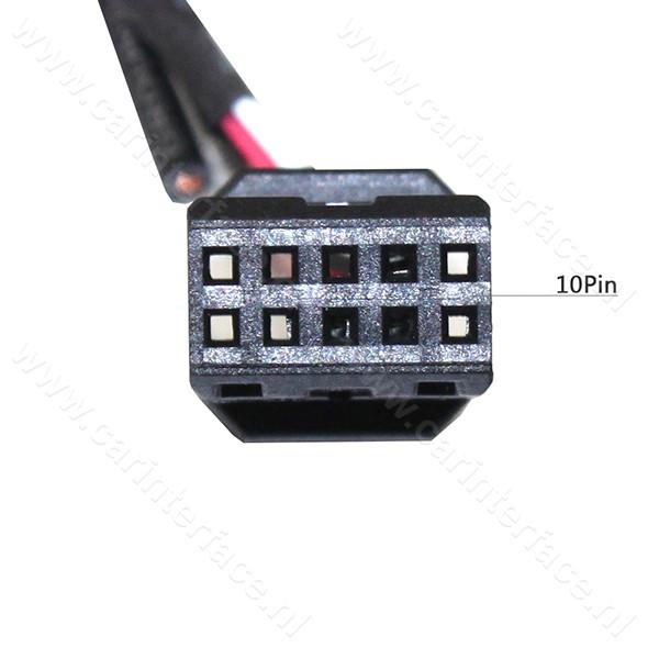 AUX kabel voor Business CD autoradio's van BMW E46 vanaf 09-2002 met een 10-pin aansluiting