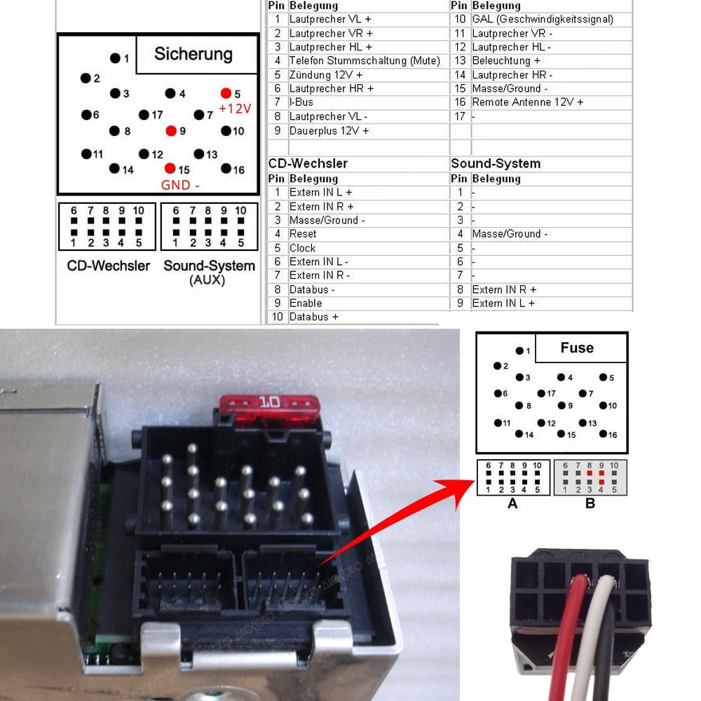Bluetooth naar AUX streaming interface / adapter voor BMW E46 met Business CD autoradio (10-pin)