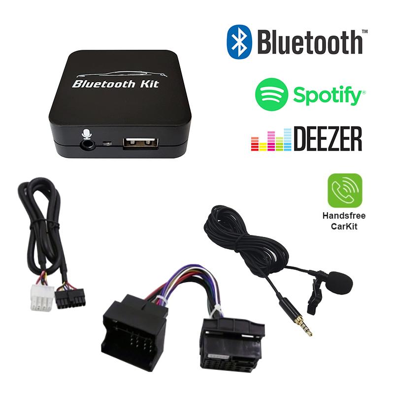 Bluetooth streamen + handsfree carkit interface / audio adapter voor 40-pin MINI R5X autoradio's