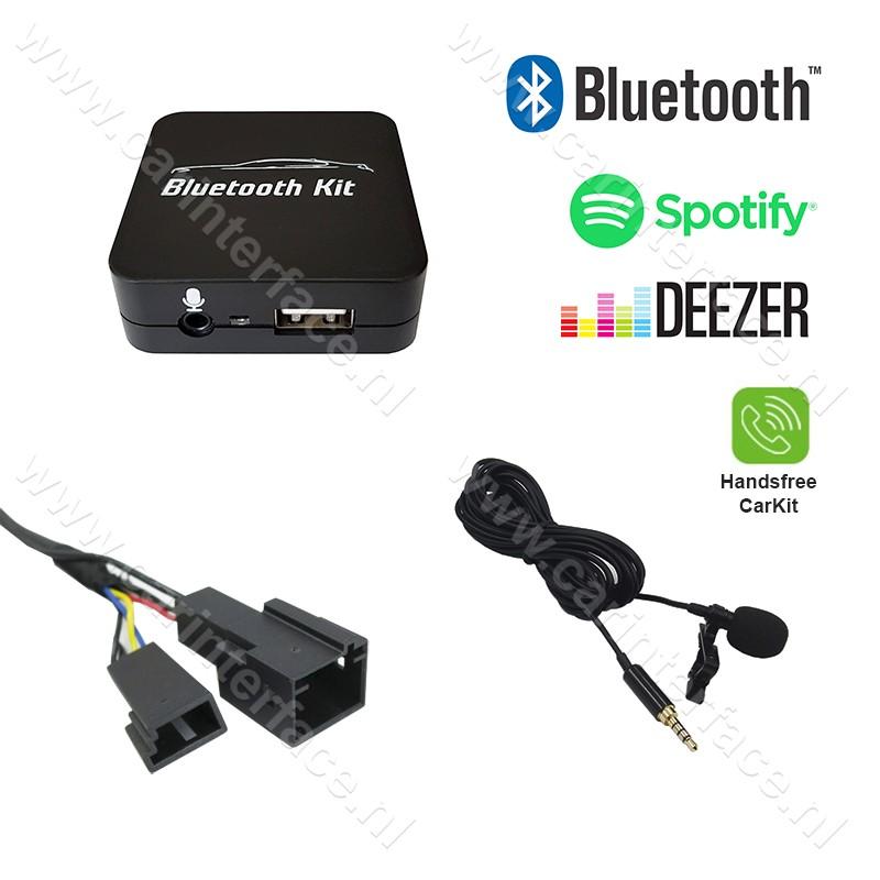 Bluetooth streamen + handsfree carkit interface / audio adapter voor BMW autoradio's, 3+6 pin