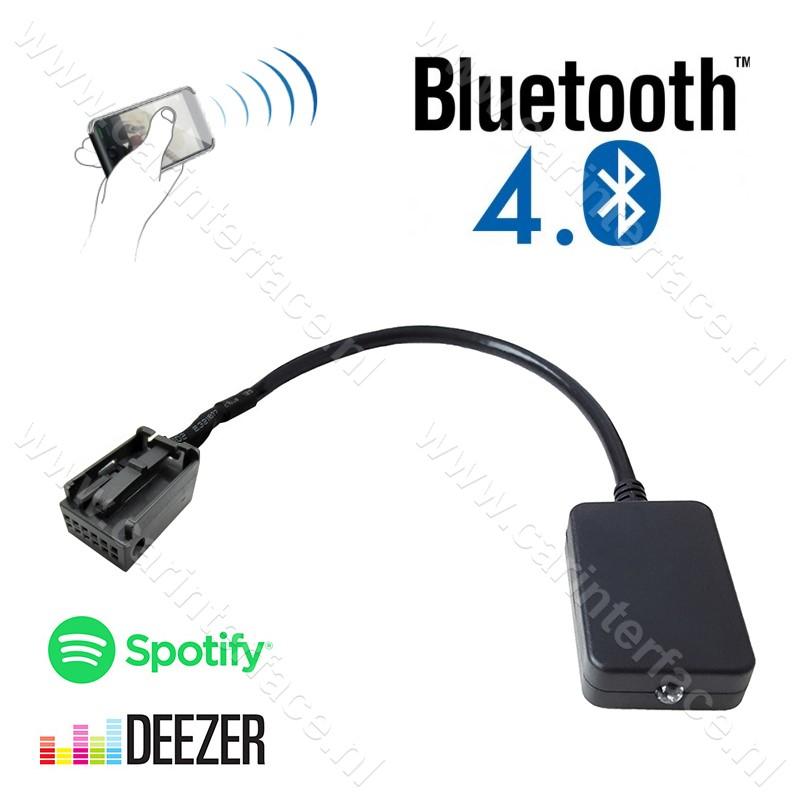 Bluetooth streaming interface / audio adapter voor RD4 Citroën autoradio's, 12-pin aansluiting