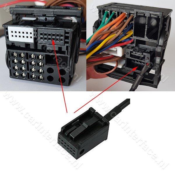 3.5mm AUX kabel / audio adapter voor Ford 6000CD radio's, Focus, C-Max, Mondeo, S-Max, Transit, Fiesta, Fusion
