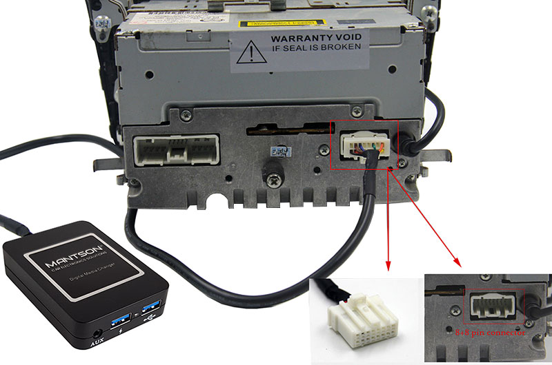 Bluetooth / USB / AUX interface / audio adapter voor Mazda autoradio's