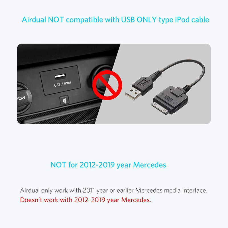 Bluetooh streaming adapter voor Mercedes Media Interface, Spotify, Deezer..