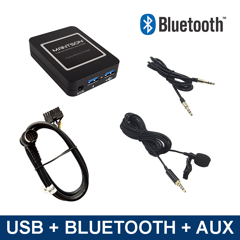 Bluetooth streamen + carkit / USB / AUX interface / audio adapter voor Mitsubishi autoradio's