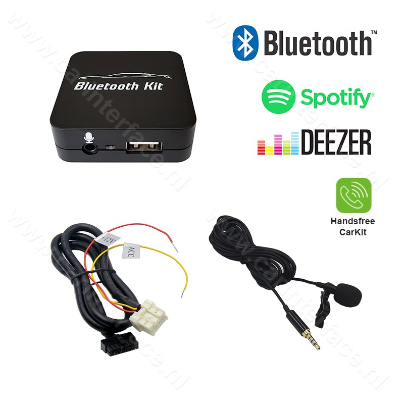 Bluetooth streamen + handsfree carkit interface / audio adapter voor Mitsubishi autoradio's