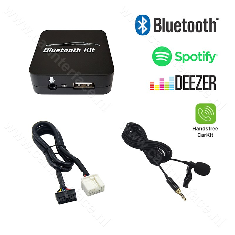 Bluetooth streamen + handsfree carkit interface / audio adapter voor Suzuki autoradio's