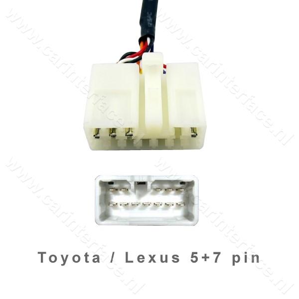 TOY1 kabel voor YTM06, YTM07 en YT-BTA versies van Yatour voor Toyota en Lexus
