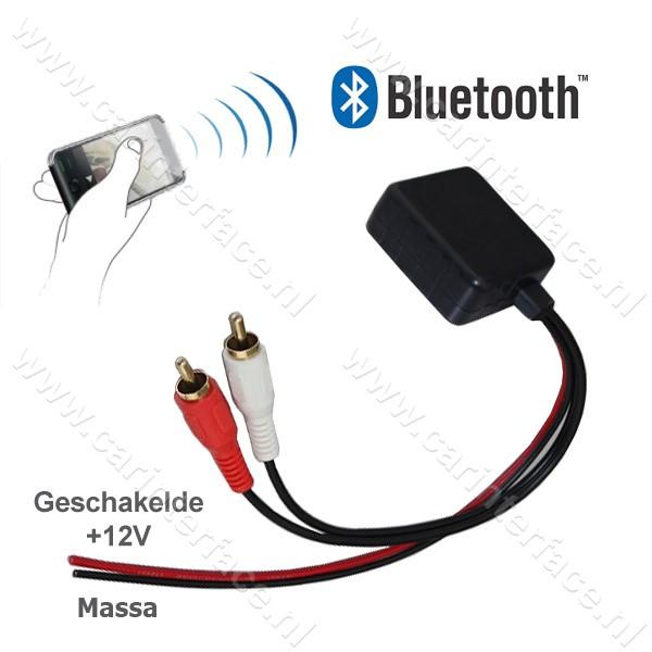 Bluetooth naar 2x male RCA AUX-ingang van een autoradio