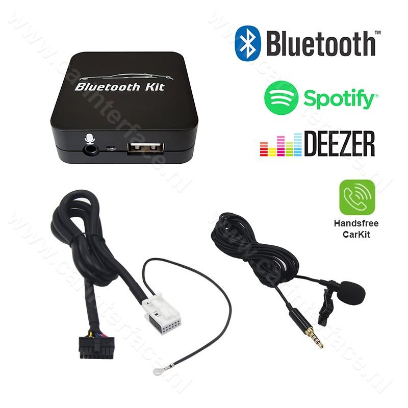 Bluetooth streamen + handsfree carkit interface / audio adapter voor SEAT autoradio's (12-pin)