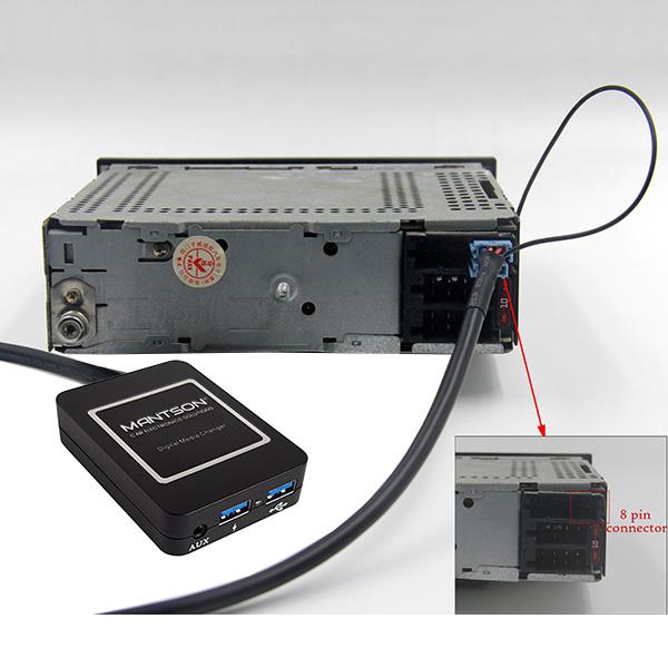 Bluetooth / USB / AUX interface / audio adapter voor Volkswagen / VW autoradio's (8-pin)