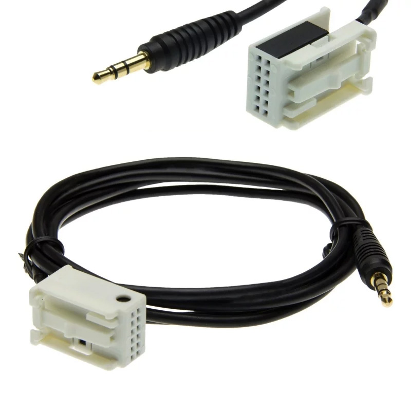 12-pin AUX kabel voor o.a. MFD3, RCD 210, RCD 310, RCD 510, RNS 310, RNS 510 en RNS-E