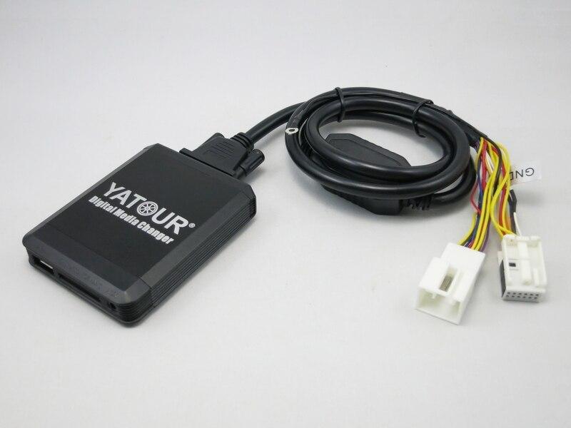 VW12D Y-kabel voor het combineren van 12-pin Yatour met een externe CD-wisselaar