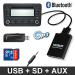 USB, SD, AUX, Bluetooth interfaces