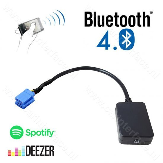 Bluetooth streaming interface / audio adapter voor Alfa Romeo autoradio's.