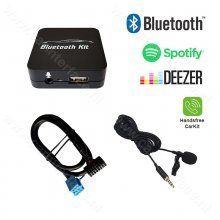 Bluetooth streamen + handsfree carkit interface / audio adapter voor Peugeot autoradio's, 8-pin