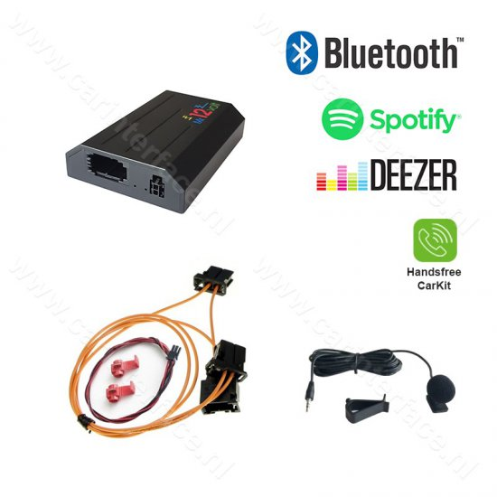 Bluetooth + Carkit interface / streaming audio adapter voor Audi met MOST MMI 3G (High / Basic / Plus)