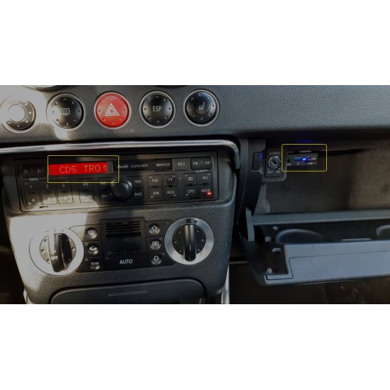 Bluetooth / USB / AUX interface / audio adapter voor Audi autoradio's (MN-BUA-VW8)