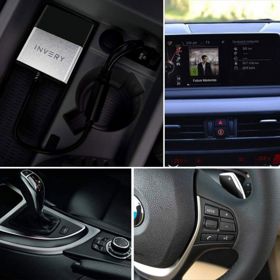 Bluetooh streaming adapter voor BMW / Mini iDrive systemen. Spotify, Dezzer.