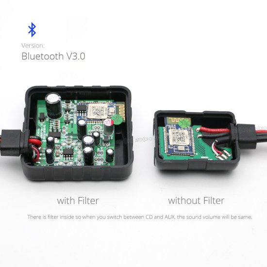Bluetooth naar AUX interface / audio adapter voor autoradio's / navigatiesystemen van BMW E46, E39, E53-X5 met  (3-pin)