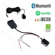 Bluetooth streaming + handsfree carkit naar AUX adapter voor BMW E60 E61 E62 E63 E64 E66 E81 E82 E70 E90 vanaf bj 2004 met MASK / CCC