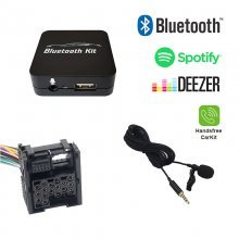 Bluetooth streamen + handsfree carkit interface / audio adapter voor 17-pin BMW autoradio's