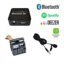 Bluetooth streamen + handsfree carkit interface / audio adapter voor 40-pin BMW autoradio's