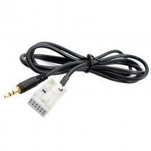 AUX kabel voor BMW E60 E61 E62 E63 E64 E66 E81 E82 E70 E90 vanaf bj 2004 met MASK / CCC, 12-pin aansluiting