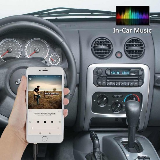 Bluetooth , USB, AUX IN, MP3 interface adapter voor Chrysler, Dodge en Jeep autoradio's (10-pin)
