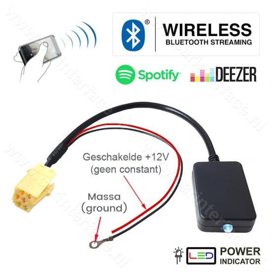 Bluetooth streaming adapter voor Alfa Romeo, Fiat en Lancia autoradio's, 6-pin AUX-aansluiting (NIEUW)