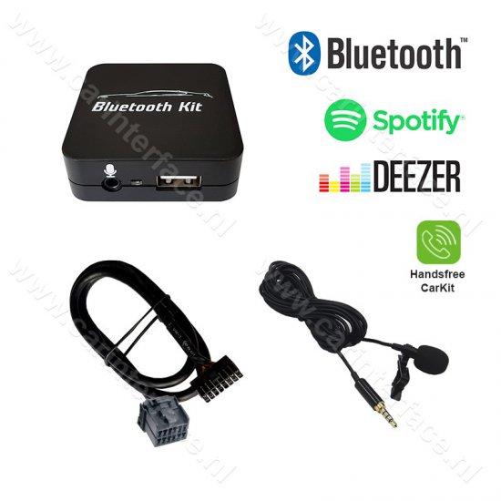 Bluetooth streamen + handsfree carkit interface / audio adapter voor Ford autoradio's