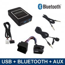 Bluetooth streamen + carkit / USB / AUX interface / audio adapter voor 40-pin MINI R5X autoradio's