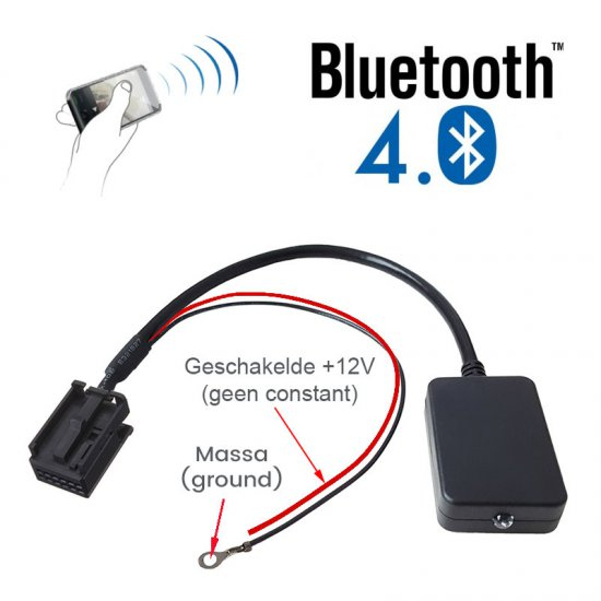Bluetooth streaming adapter voor OPEL autoradio's met AUX, voor o.a. CD30 MP3, CDC40, CD70, DVD90