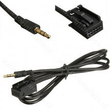 3.5mm AUX kabel voor OPEL autoradio's, voor o.a. CD30 MP3, CDC40, CD70, DVD90, 12-pin