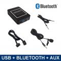 Bluetooth / USB / AUX interface / audio adapter voor Peugeot autoradio's (MN-BUA-RD4)