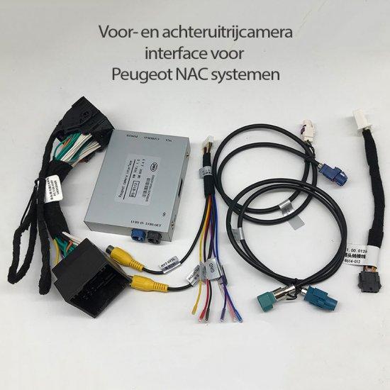 Voor- en achteruitrijcamera interface voor Peugeot 308 / 4008 NAC systemen en Citroen C3 2018