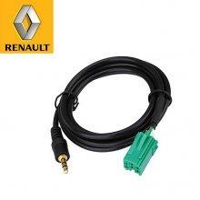 AUX IN kabel / audio ingang voor Renault autoradio's met een 6-pins Mini-ISO aansluiting