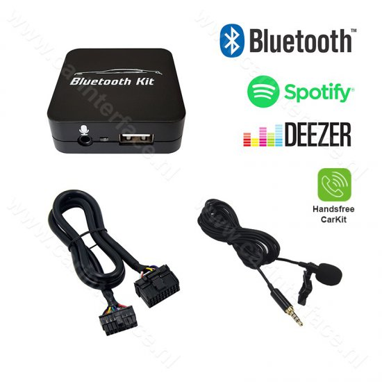 Bluetooth streamen + handsfree carkit interface / audio adapter voor Subaru autoradio's, 20-pin