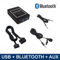 Bluetooth streamen + handsfree carkit + USB + AUX interface / adapter voor Subaru autoradio's