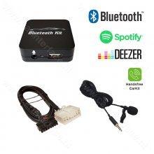 Bluetooth streamen + handsfree carkit interface / audio adapter voor Toyota 5+7 pin autoradio's