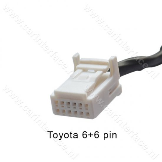 Bluetooth streaming interface / audio adapter voor Toyota 6+6 pin autoradio's