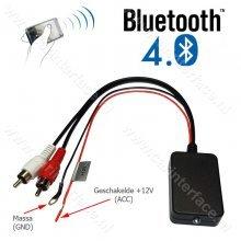 Bluetooth naar 2x male RCA AUX-ingang van een autoradio, LED status indicator