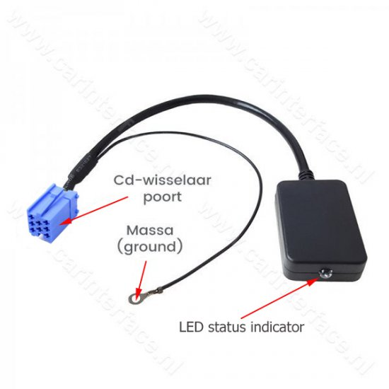 Bluetooth streaming interface / audio adapter voor SEAT autoradio's (8-pin)