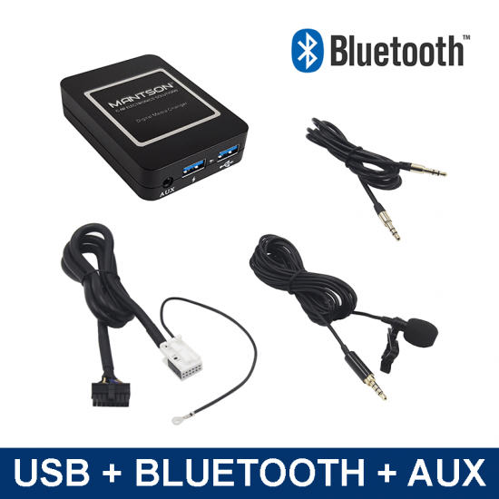 Bluetooth / USB / AUX interface / audio adapter voor Audi autoradio's (MN-BUA-VW12)