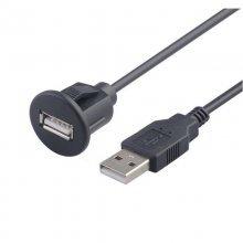 USB inbouw / opbouw connector met 1 meter kabel