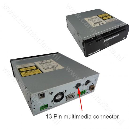 8-pin naar 13-pin verloopkabel voor VOLVO HU-series RTi navigatiesystemen (YT-V813)