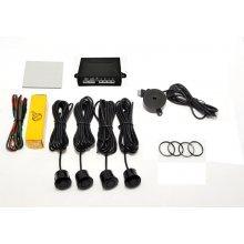 Gevoeligheid verstelbare 4x parkeersensoren set, kleur ZWART