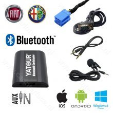 Yatour Bluetooth interface / adapter (carkit) met AUX ingang voor FIAT autoradio's