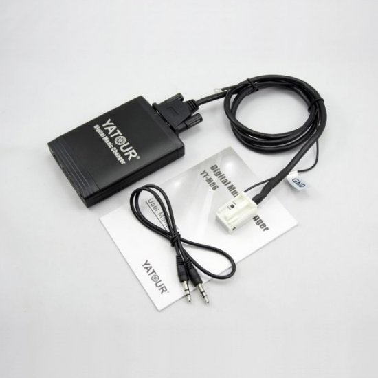Yatour USB, SD, AUX Ingang, MP3 interface / audio adapter voor VOLKSWAGEN / VW autoradio's